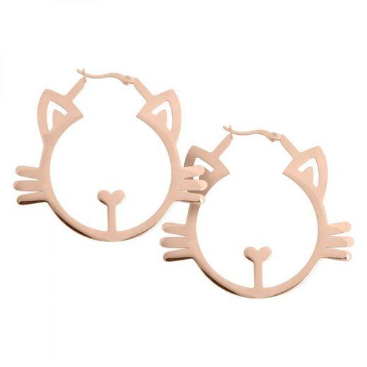 Wildcat Paar Ohrhänger »Ohrringe Rose Golden Meow Hoops«