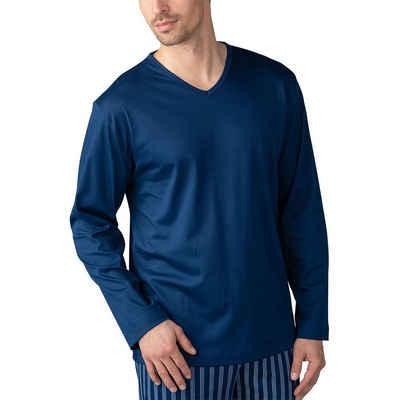 Mey Pyjamaoberteil »Basic Lounge Nightwear Mix & Match« Shirt 1/1 Arm - V-Auschnitt, Langarm, Natürliches Tragegefühl