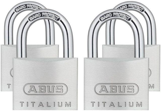 ABUS Vorhängeschloss 64TI 40 Quads B SB , Set, 4-tlg , Spezialaluminium