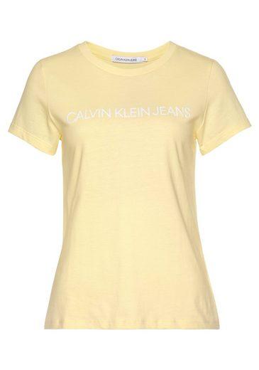 Calvin Klein Jeans T-Shirt »INSTITUTIONAL LOGO SLIM FIT TEE« mit farbigen oder Ton in Ton Calvin Klein Jeans Schriftzug