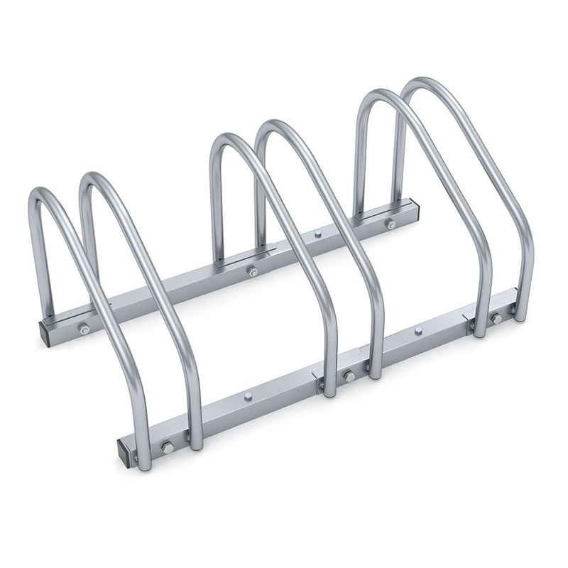 monzana Fahrradständer, für 3 Fahrräder 35-60 mm Reifenbreite Mehrfachständer Aufstellständer Radständer Bodenständer