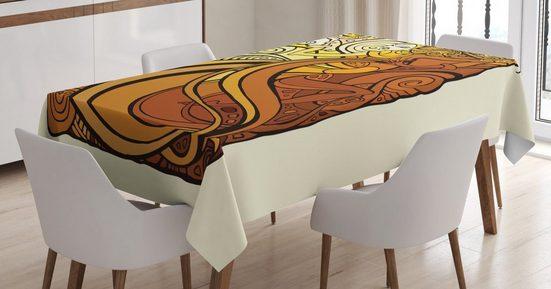 Abakuhaus Tischdecke »Personalisiert Farbfest Waschbar Für den Außen Bereich geeignet Klare Farben«, Tarock Frau mit Sun