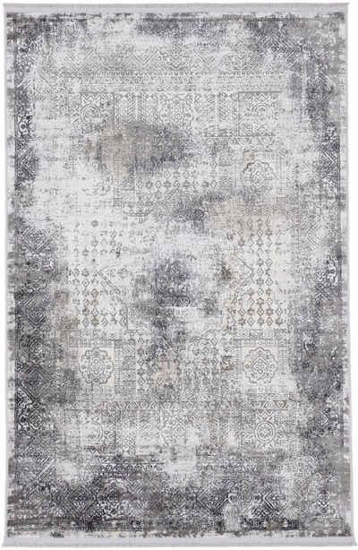 Teppich »Vintage Liyath«, carpetfine, rechteckig, Höhe 8 mm, hoher Viskoseanteil, im Vintage Look, Wohnzimmer