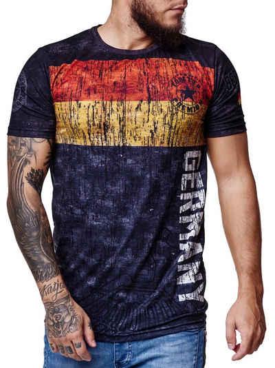 Code47 T-Shirt »Herren Länder T-Shirt Kurzarm Rundhals Fußball« (1-tlg)