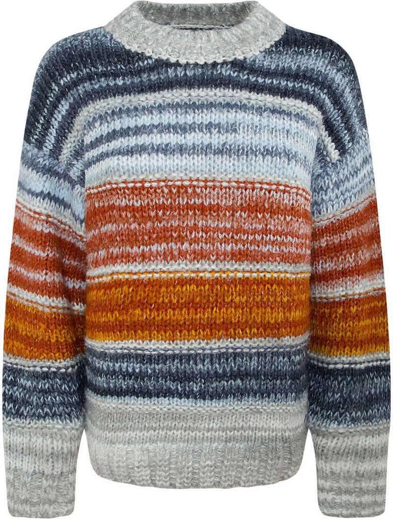 Pepe Jeans Strickpullover »LISA« in mehrfarbig gestreifter Optik und aus kuschelig-weicher Qualität