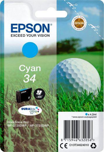 Epson »Singlepack Cyan 34 Tinte DURABrite« Tintenpatrone