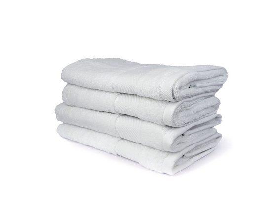 Aymando Handtuch Set »Glatt« (Spar-Set, 4-tlg), Nachhaltiges Handtuchset aus ägyptischer Baumwolle, umweltfreundlich, Made in Egypt, Weiß