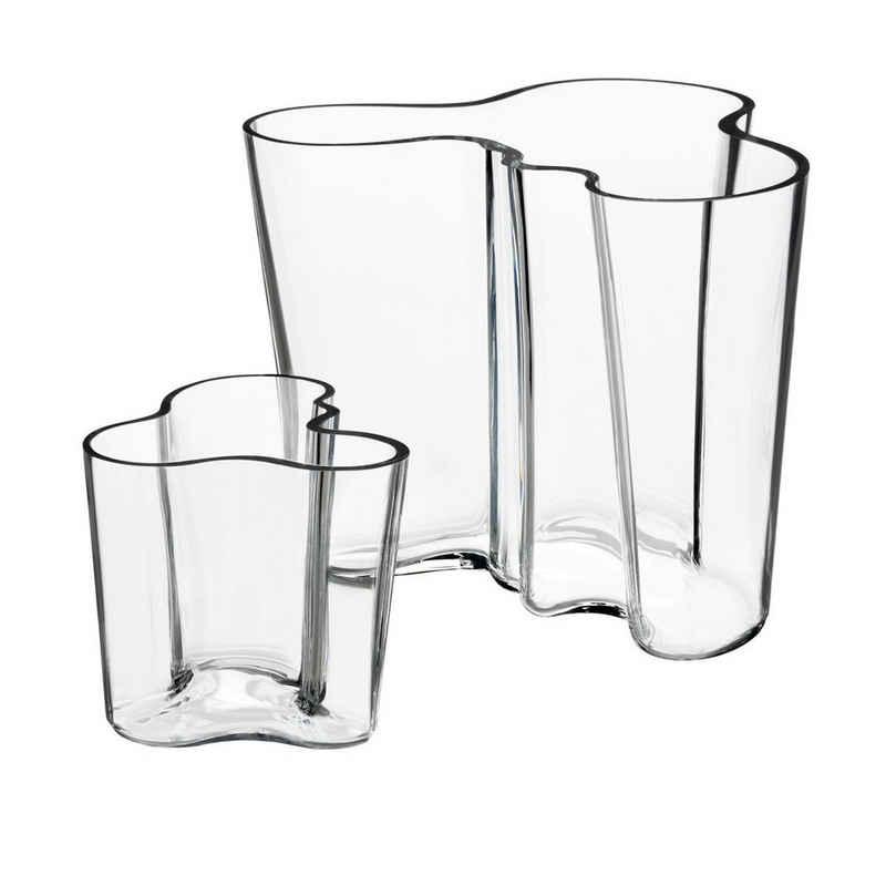 IITTALA Glas »Set iittala Aalto Vasen klar 9,5 + 16 cm«, Glas, klar