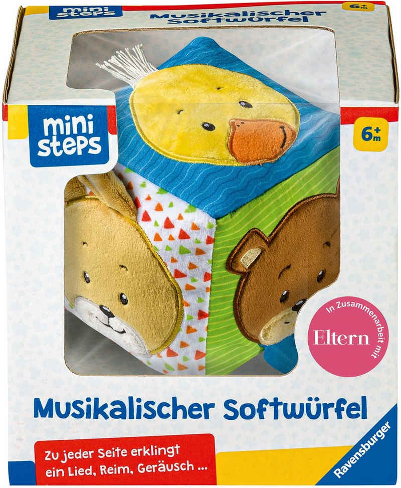 Ravensburger Greifspielzeug »ministeps® Musikalischer Softwürfel«, mit Sound, FSC® - schützt Wald - weltweit