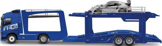 Bburago Spielzeug-Transporter »StreetFire Volvo FH16 Autotransporter«, inklusive Spielzeugauto