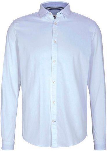 TOM TAILOR Langarmhemd im Basic-Design
