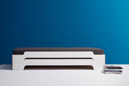 Müller SMALL LIVING Daybett »STAPELLIEGE Komfort-Set«, inklusive 2 Matratzen mit hochwertigem Bergamo Stoff bezogen und 2 Lattenrosten