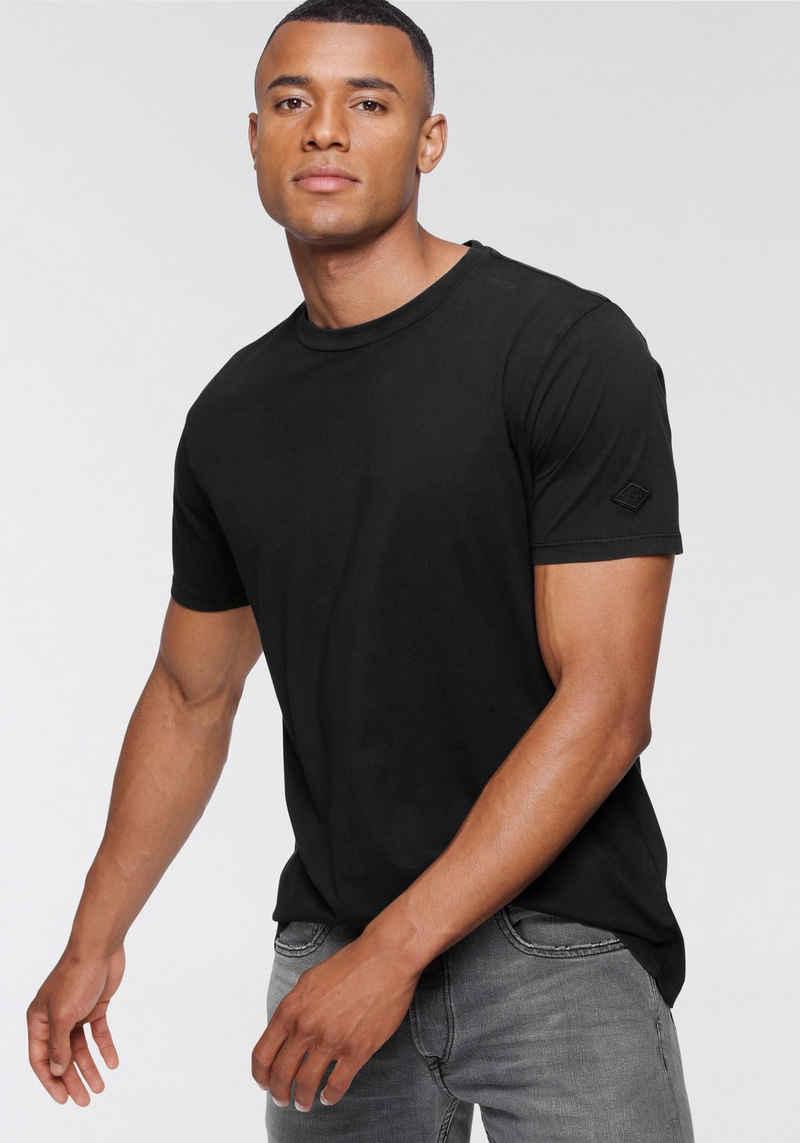 Replay T-Shirt mit Markenbadge am Ärmel