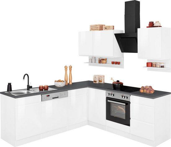 HELD MÖBEL Winkelküche »Virginia«, mit E-Geräten, Stellbreite 220/220 cm