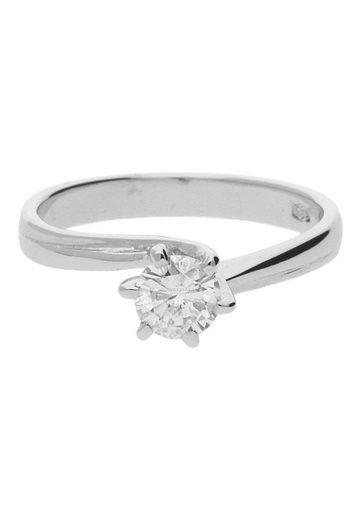 JuwelmaLux Diamantring »Ring Gold Damen und Herren mit Diamant(en)« (1-tlg), Weißgold 585/000, inkl. Schmuckschachtel