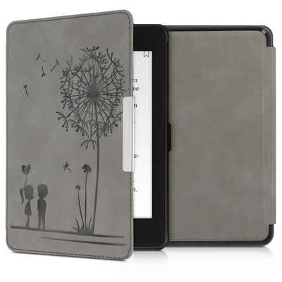 kwmobile E-Reader-Hülle, Hülle für Amazon Kindle Paperwhite (10. Gen - 2018) - Kunstleder eReader Schutzhülle Cover Case - - Pusteblume Love Design