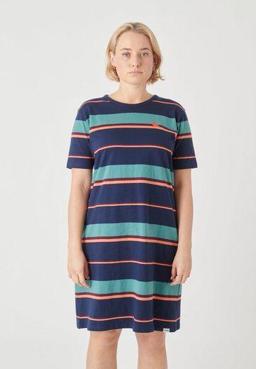 Cleptomanicx Jerseykleid »Coasting« mit mehrfarbigem Streifen-Design