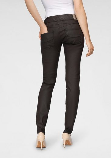 Herrlicher Slim-fit-Jeans »GILA SLIM COATED« in Lederoptik
