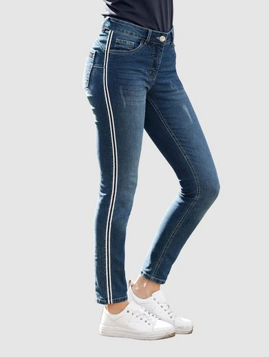 Laura Kent Skinny-fit-Jeans mit Galonstreifen