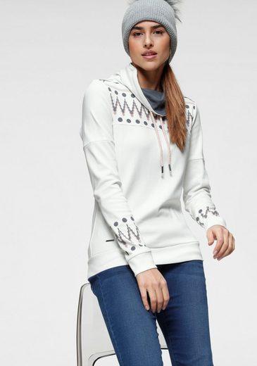 KangaROOS Sweatshirt mit trendigem Druck vorn und an den Ärmeln