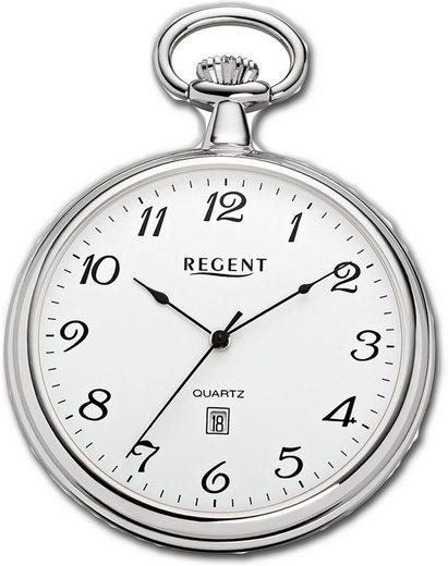 Regent Taschenuhr »D2URP080 Regent Damen Herren Taschenuhr P-80«, Herrenuhr, rundes Gehäuse, extra groß (ca. 48mm), Elegant-Style