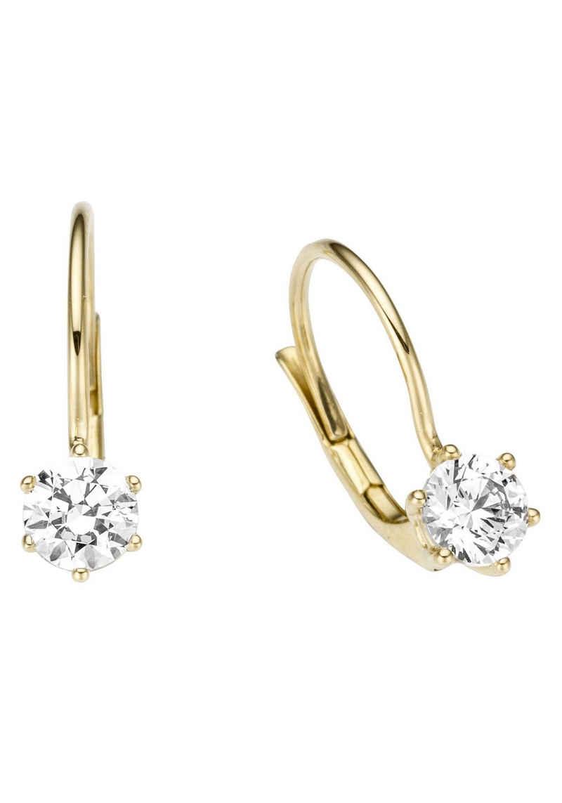 Firetti Paar Ohrhänger »edel, stil- und glanzvoll, massiv«, mit Zirkonia