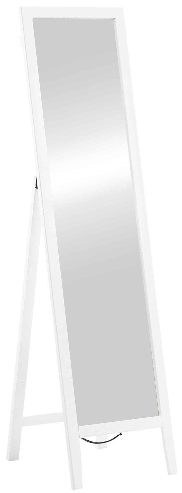 CLP Standspiegel »Standspiegel Tandel«, mit Garderobenhaken und Holzrahmen