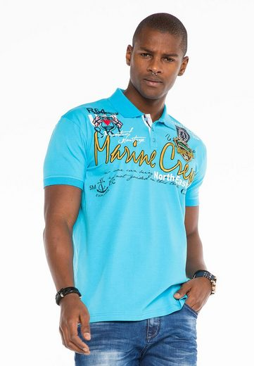 Cipo & Baxx Poloshirt im Marina-Look