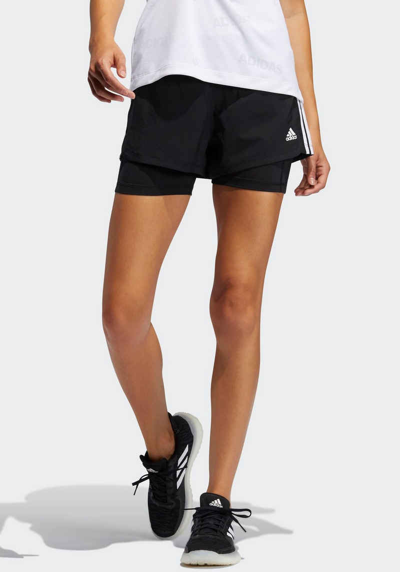 adidas Performance 2-in-1-Shorts »PACER 3-STREIFEN WOVEN TWO-IN-ONE«