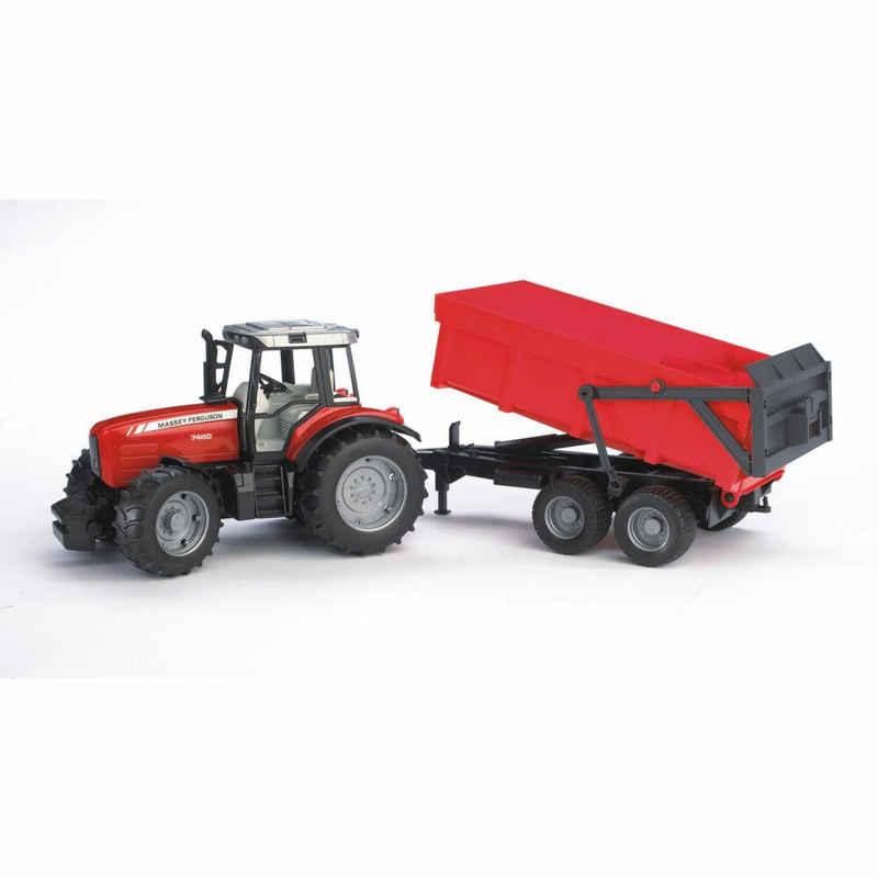 Bruder® Spielzeug-Traktor »Massey Ferguson 7480 mit Wannenkippanhänger«