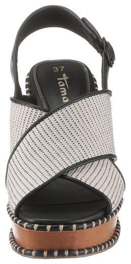 Tamaris »Claudie« High-Heel-Sandalette im modischen Retro-Look
