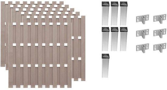 T&J Bohlenzaun »Jersey 4«, (Set), 6 Elemente, LxH: 1129x180 cm