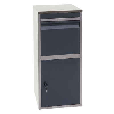 MCW Briefkasten »MCW-G80«, Am Boden fixierbar, Sicheres Einwurfsystem, Für Briefe und kleine bis mittlere Pakete, Abschließbar