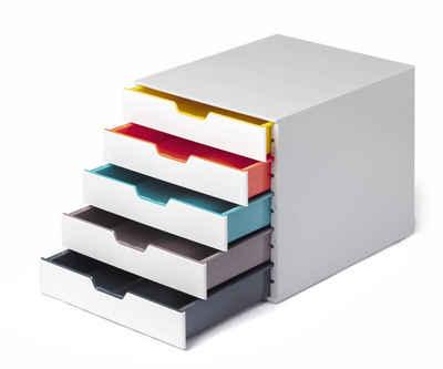 DURABLE Schubladenbox »VARICOLOR«, Durable 762527 Schubladenbox A4 (Varicolor Mix) 5 Fächer, mit Etiketten zur Beschriftung, mehrfarbig