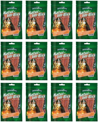 CHRISTOPHERUS Hundesnack »Hähnchenbrustfiletstreifen«, 12 x 70 g