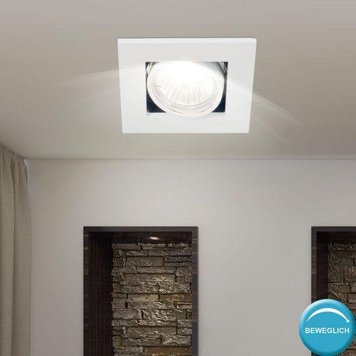 Nordlux LED Deckenspot, Einbau Strahler Wohn Zimmer Beleuchtung ALU Decken Lampe weiß Spot verstellbar Nordlux 21060101