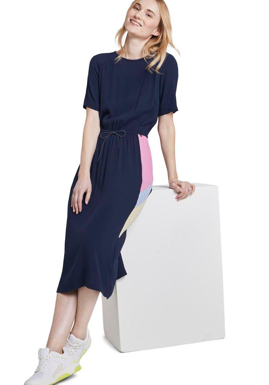 TOM TAILOR Denim Sommerkleid mit tollen Color-blocking Details online kaufen Earg00