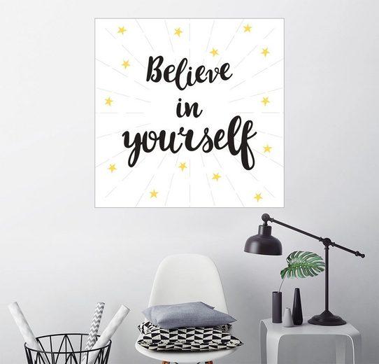 Posterlounge Wandbild, Glaube an Dich!