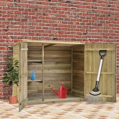 vidaXL Gerätehaus »vidaXL Garten-Geräteschuppen 135x60x123 cm Kiefernholz Imprägniert«