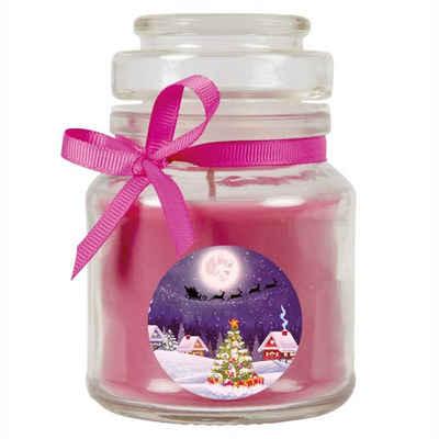 HS Candle Duftkerze (1-tlg), Weihnachten - Kerze im Bonbon Glas, Kerze mit Weihnachts - Motiv, vers. Düfte / Größen