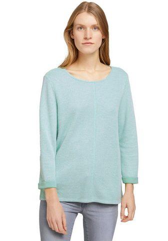 TOM TAILOR Marškinėliai ilgomis rankovėmis su fix...