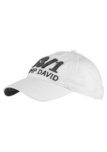 CAMP DAVID Baseball Cap Stone washed, Baumwolle