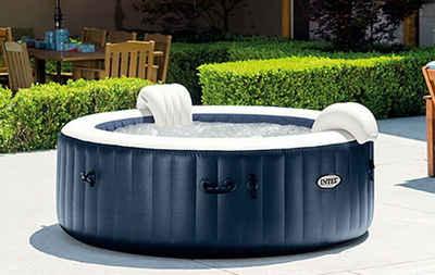 Intex Whirlpool »Intex Pure Spa Außen-Whirlpool 85 Bubble Massage für 6 Personen Ø x H: 216 x 71 cm, Kalkschutzsystem 10 W, Laminiertes Vinyl, Navy«