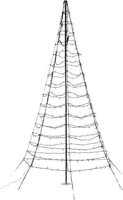 LED Baum »Galaxy«, mit Aufstellmast, aus Metall und Kunststoff, mit warmweißen LEDs