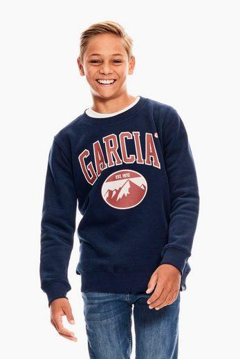 Garcia Sweater mit rundem Ausschnitt