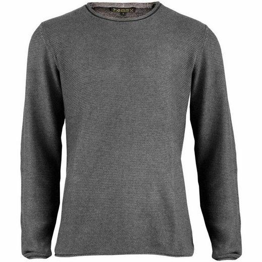 hemmy Fashion Strickpullover Pulli Sweater Rundhals mit Grobstrick, versch. Größen und Farben verfügbar