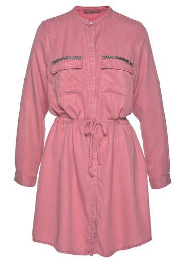 LTB Blusenkleid »ELYA« mit Glitzerdetails an den Brusttaschen