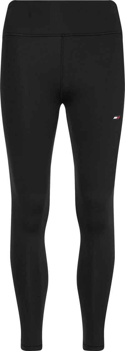 Tommy Hilfiger Sport 7/8-Leggings »HW LBR LEGGING 7/8« mit Tommy Hilfiger Logo-Flag auf dem linken Bein