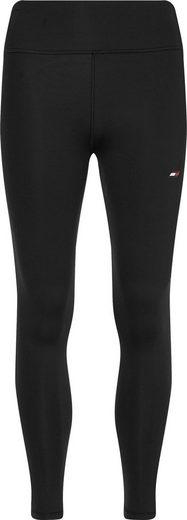Tommy Hilfiger Sport Funktionsleggings mit Tommy Hilfiger Logo-Flag auf em linken Bein