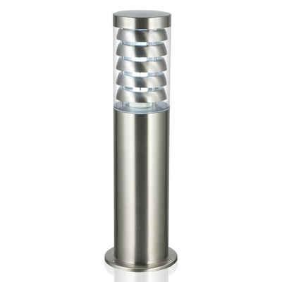 Kiom Pollerleuchte »Gartenleuchte Wegeleuchte Tulcan 45 cm silver E27«